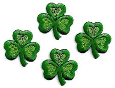 """SHAMROCK LOVE - Irish - Embroidered Iron On Applique Patches - Set Of 4 SMALL 1"""""""