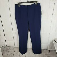 New Kasper Kate Blue Classic Fit Work Dress Pants Women's Size 12 NWT