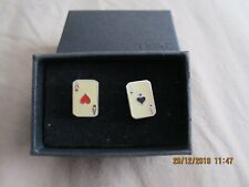 """Next """"Aces of hearts/spades"""" Cufflinks - In original box - Excellent Condition!"""