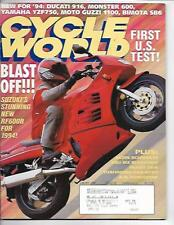 Cycle World Magazine January 1994- BMW R1100RS, Suzuki GSX-R750, Honda CR250