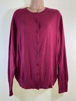 NEXT fuchsia pink cotton mix button up cardigan PLUS SIZE 20 euro 48