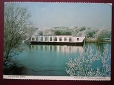 POSTCARD OXFORDSHIRE OLD COLLEGE BARGE
