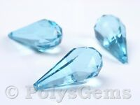 ACRYLIC TEAR DROP PENDANTS MULTI FACETED 51MM x 23MM WEDDING TABLE DECORATIONS