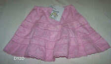 Dymples Girls Pink Cotton Skirt Size 1 New
