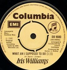 "IRIS WILLIAMS what am i supposed to do/show me your love DB 9080 1980 7"" WS EX/"