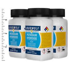 Potassium Hydroxide 12 Oz Total 4 Bottles Food Grade Fine Flakes Usa Seller