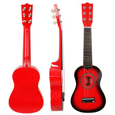 "New 21"" 6 Strings Acoustic Guitar Red Beginners Practice Musical Instrument"