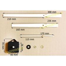 Kit Complet Mécanisme Horloge de Gare Aiguilles XXL Pendule Montre 30 cm / 21 cm