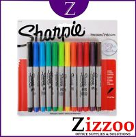 SHARPIE ULTRA FINE MARKER PENS PERMANENT PACK OF 12 AND ASSORTED COLOURS