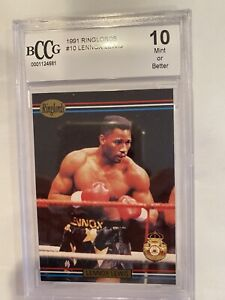 1991 Players International Ringlords Lennox Lewis Beckett BCCG 10 MINT