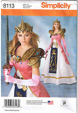 Warrior Princess Zelda Costume Gown Armor Crown Sewing Pattern 14 16 18 20 22