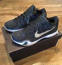 Nike Kobe x 10 ID Elite UK9.5 NERO GUM Flyknit HTM US10.5