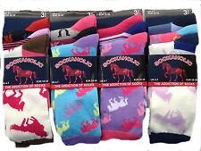 UK New 3 Pairs Ladies Horse Print Socks Colourful Design Socks UK 4-7, Eur 35-39
