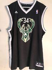 Adidas NBA Jersey Milwaukee Bucks Giannis Antetokounmpo Black Alt sz 2X