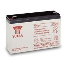 Yuasa NP12-6 Lead Acid Rechargeable Battery 6V, 12Ah
