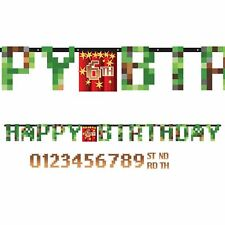 TNT Pixel Video Game Jumbo Happy Birthday Jumbo Letter Banner Party Decorations