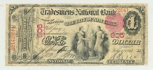 Series 1875 First Charter $1 from The Trademen's National Bank of New York #905