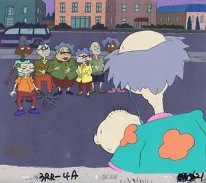 Rugrats Original 1990's Production Cel Animation Art Tommy Old Folks