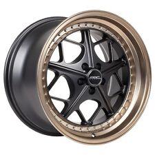 18x9.5 ARC AR2 5x100 +35 Black Rims Fit Vw Jetta Golf Gti Passat Scion Tc