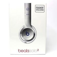 New Original Beats Solo 2 Wired FRAGMENT SPECIAL EDITION Headphones Gloss Silver