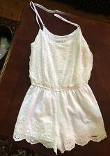 Abercrombie & Fitch White Lace Romper Sz XS