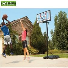Portable Basketball System Hoop Adjustable 48-In. Backboard Pole Goal Basketball