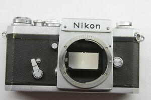 Nikon F SN 6826621 1967 35mm Body Only w/Focus Screen & Good Shutter USED J13J