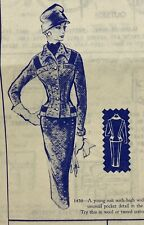 Modes Royale Vintage Sewing Pattern 1450 Suit Bust 32