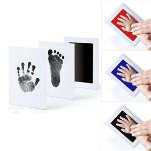Inkless Baby Kit-Hand Foot Print Keepsake Newborn Footmark Handprint Kids t~