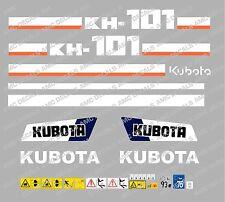 Kubota kh101 Ensemble complet AUTOCOLLANT MINI PELLE
