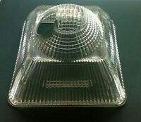 Holophane Prismatic Lamp Shade Industrial Light Angled Square Glass Iconic Vtg