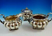 English Silverplate Sugar Bowl, Creamer, Waste Bowl Set