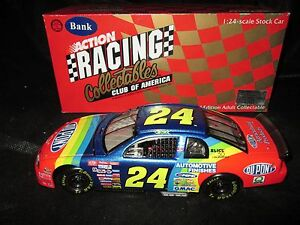 RCCA NASCAR 1/24 Club Bank Jeff Gordon #24 Dupont 1998 Chevrolet Monte Carlo
