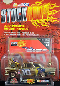 Stock Rods 1956 Ford Victoria #10 Gold Tide NASCAR Die Cast Ricky Rudd