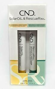 CND Essentials CARE PENS DUO - RescueRxx + Solar Oil 0.08oz/2.5ml each