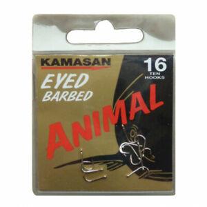 KAMASAN ANIMAL EYED BARBED OR BARBLESS FISHING HOOKS