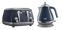 Delonghi CTOC4003BL KBOC2001BL Icona Capitals Toaster + Kettle PACK - Blue