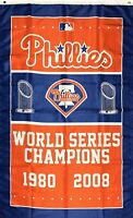 Philadelphia Phillies World Series Championship Flag 3x5 ft MLB Sports Banner