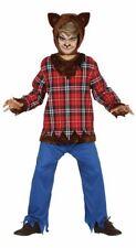 Chicos Hombre Lobo Halloween Monstruo Horror Miedo FANCY DRESS COSTUME CHILDS TRAJE