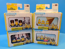 Dispicable Me Minions Lot of 4 Micro Minion Playsets  New!