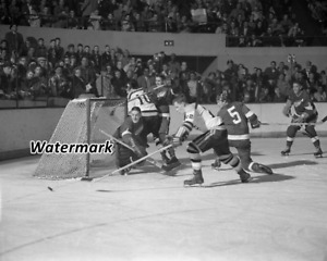 NHL 1955 Detroit Red Wings Terry Sawchuk Game Action 8 X 10 Photo Picture