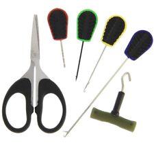 6pc Baiting Tool Boilie Needle Set Carp Tackle Braid Scissor Splicer Knot Puller