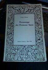 Personaggi dei Promessi Sposi Luigi Russo editori Laterza 1958