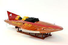 "U-37 Slo-mo-shun V Hydroplane Handmade Wooden Racing Boat Model 30"" Scale 1:12"