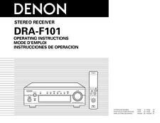 Denon DRA-F101 Receiver Owners Manual