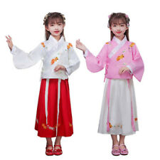 Kids Girls Child Ancient Chinese Traditional Cosplay Costumes Hanfu Fancy Dress