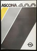 Opel Ascona 400 Brochure 1980