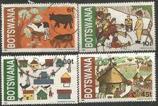 BOTSWANA 1982  CHILDREN'S DRAWINGS (ART) Sc#295-9 COMPLETE USED SET 2380