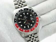 ALPHA  Watch GMT Jubilee Black Red Bezel Black Dial Automatic Movement