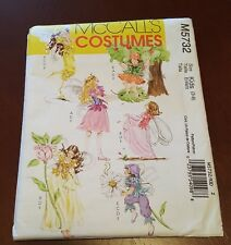 La60 McCall's Sewing Pattern M5732 Childs Girls Fairy Costumes Sizes 3 4 5 6 7 8